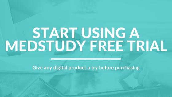 MedStudy free trial
