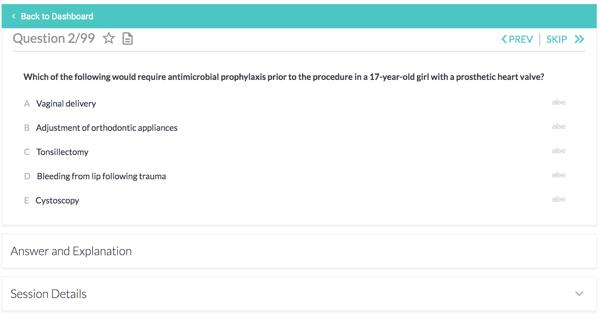 Pediatrics cardiology section in the Qandas