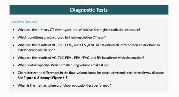 pulmonary medicine free trial preview review questions