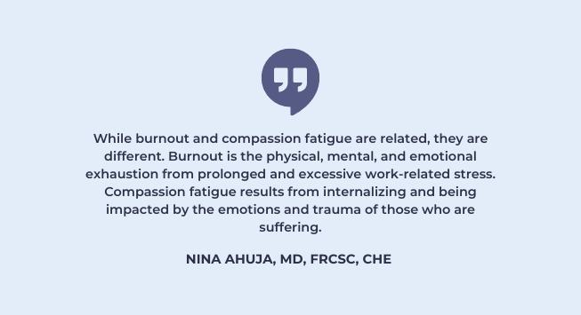 physician burnout vs compassion fatigue