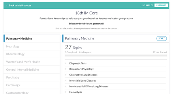 pulmonary medicine free trial overview