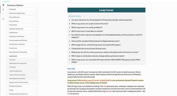 pulmonary medicine free trial topics